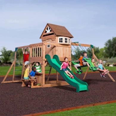 Backyard Discovery Montpelier Cedar Wooden Swing Set by ...