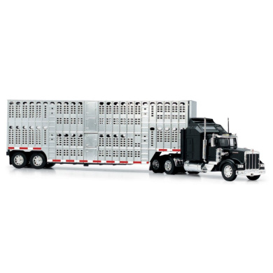New Ray 1//43 D//C Kenworth W900 Pot Belly Livestock Trailer New Ray Toys 15243