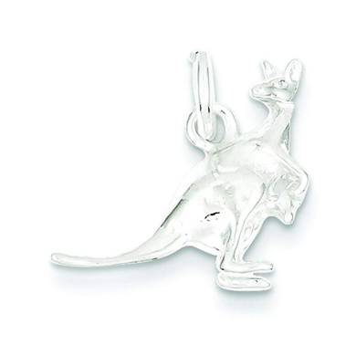 Kangaroo with Joey baby in pouch sterling silver charm .925 x 1 charms SSLP1955