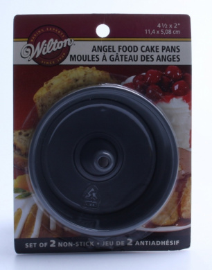 24 cm x 10 cm Chicago Metallic Antiadhésif deux pièces Round angel cake pan