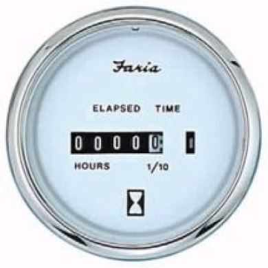 Faria Chesapeake White SS Trim Gauge, OMC outboard by ...