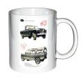11oz Poster/Logo Print Coffee Mug with image of a LAND ROVER SERIES 11 277cm