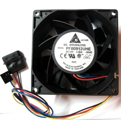 2850 Systems AFB0612EHE Compatible Part Numbers: 2415KL-04W-B86 Dell H2401 W5451 Computer Case Cooling 12Volt~1.65Amp Fan and Shroud Assembly For PowerEdge 2800