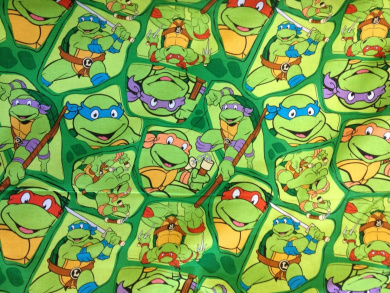 Teenage Mutant Ninja Turtles On Shell Print Cotton Print