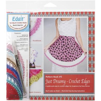 Ammees Babies Edgit Piercing Crochet Hook /& Book Set-baby Shower Crochet Edges