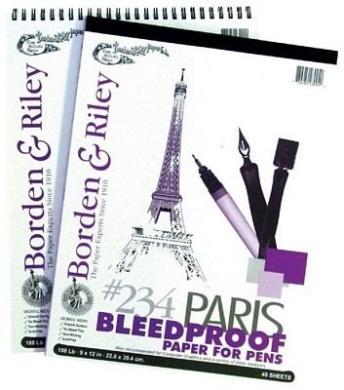 Red 9X12 Borden /& Riley Paris Paper For Pens White