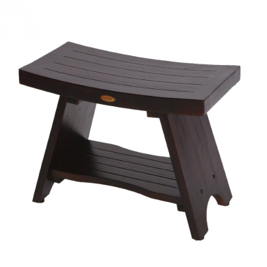 serenity asian style teak shower bench stool with storage