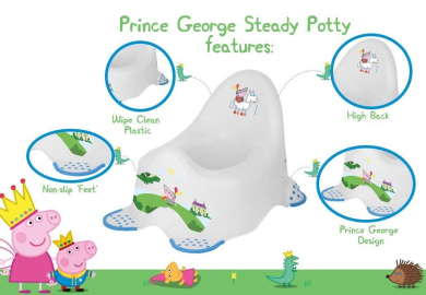 Solutions EU Peppa Pig 49513 George Toilet Training Seat with Non Slip Feet
