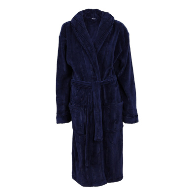 i-Smalls Harvey James Mens Hooded Soft Fleece Robe Dressing Gown with Eye Mask