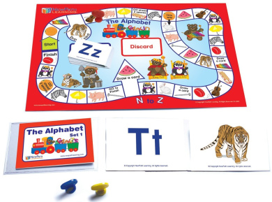 Word Families Learning Center Grades K - 1 Flash Cards and Activity Guide for 4 Students in Durable Pouch NewPath Learning 22-0028 - Gameboard Illustrated Game Cards