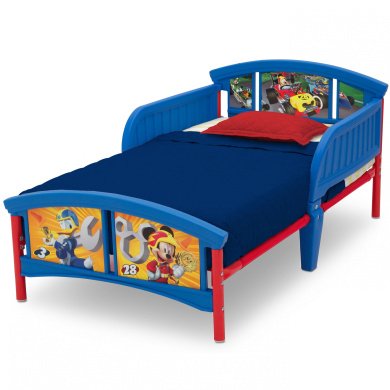 Disney Mickey Mouse Plastic Toddler Bed by Delta Children ...
