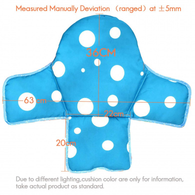 Angshi Original Baby Kids Highchair Insert Infant Toddler Dining Chair Seat Cushion Foldable Waterproof None Blue Circle Youbeiya Blue