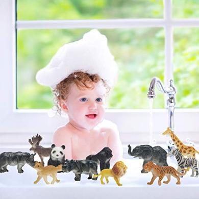 Buorsa 8 Pcs Animal Figure Realistic Animal Toy Figures Plastic Animal Toy Set Kids Toddler Child