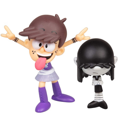 Lincoln Action Figure Toys Luna The Loud House Figure 4 Pack Leni Lucy