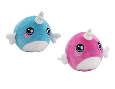 Unicorn Narwhal Gifts Kids Toys Squeezamals Squishamals Aweglo Fuzzies 3.5 Double Surprise Next Generation Plush Squishy Soft Slow Rising Jumbo Scented Squishies 2 Pack Party Favors