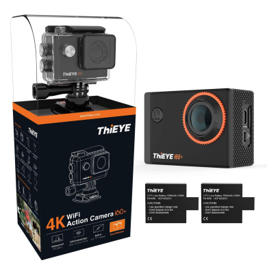 Navitech 8-in-1 Action Camera Accessories Combo Kit with EVA Case Compatible with The ThiEYE i30 WiFi ThiEYE i60+ThiEYE T5e