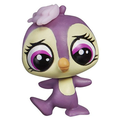 Retired Collector Toy Loose Penguin #389 Black, blue eyed, no fuzz LPS Collectible Replacement Single Figure OOP Out of Package /& Print - Littlest Pet Shop