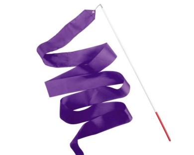 Girls Dancing Twirling Ribbon Stick Rhythmic Gymnastic