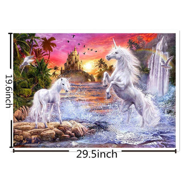 DCIDBEI DIY 5D Diamond Painting by Number Kit,5d Diamond Painting Unicorn,DIY Diamond Art Rhinestone Embroidery Cross Stitch Kits Supply Arts Craft Canvas Wall Decor Stickers Home Decor 30x40 cm