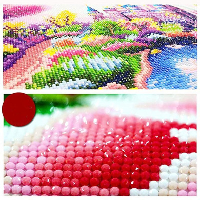 DCIDBEI DIY Diamond Painting Kit Flowers Painting Kit Home Decor Craft,Paint by Number Kits Rhinestone Embroidery Cross Stitch Kits Supply Arts Craft Canvas Wall Decor Stickers Home Decor 40x30 cm