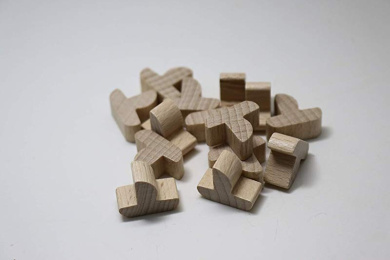 YorksGamePieces Black Wood Replacement Pieces for Settlers of Catan