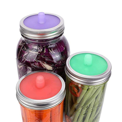 4 Fermentation Airlock Lids for Wide-Mouth Mason Jars FAST Shipping