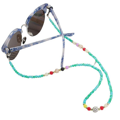 Chezaa Eyeglass Chains Floating Sunglass Straps Retainer Eyewear Stylish Adjustable Elegant Strap Cords Beaded Reading Glasses Chain Holder Lanyards Multicolors for Adults Chums Fishing Boating A