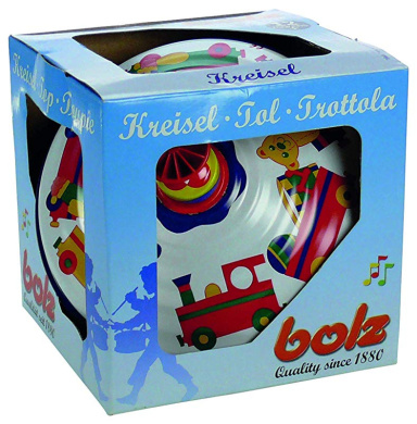 Multicolored Bolz Classic Spinning Tin Top Toy