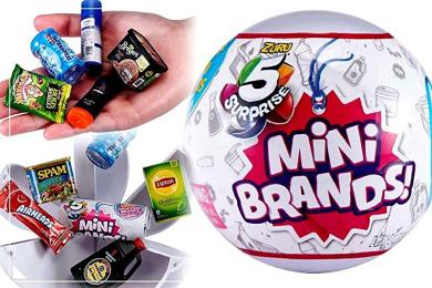 5-Surprise Mini Brands Collectible Capsule Ball by Zuru 2 Ball Bundle