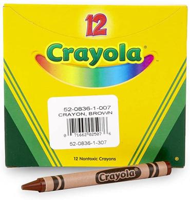 Black; no Crayola Single Color Crayon BIN83651 12 Count Box