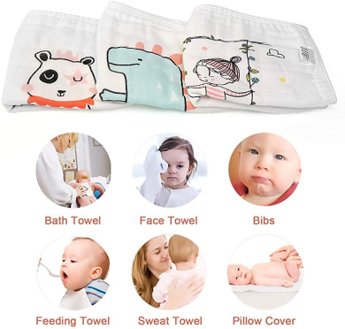 LEADSTAR Baby Muslin Washcloths 10 PCS Cotton Baby Towels Bibs for Girls Reusable Extra Soft Baby Wash Cloth Wipes Moms Boys Baby Bath Gift Squares Washcloths for Newborn Sensitive Skin