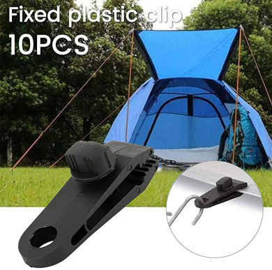 Piasnhaoah4 10 Pcs Large Outdoor Camping Tent Clip Camping Tool Tent Accessories for Camping Tarps Tarp Clips Locking Awning Clamp Snap Hangers Survival Emergency Caravan
